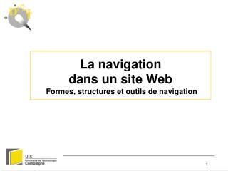 La navigation dans un site Web