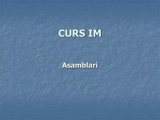 CURS IM