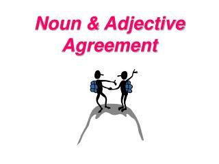 Noun & Adjective Agreement
