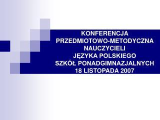 Program konferencji: