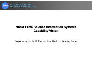 NASA Earth Science Information Systems Capability Vision