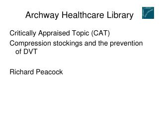 Archway Healthcare Library