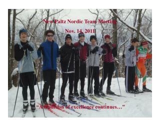 New Paltz Nordic Team Meeting Nov. 14, 2011