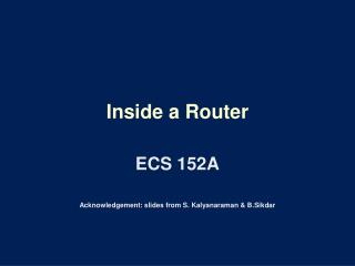 Inside a Router