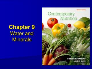 Chapter 9 Water and Minerals