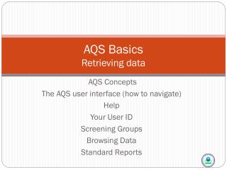 AQS Basics Retrieving data