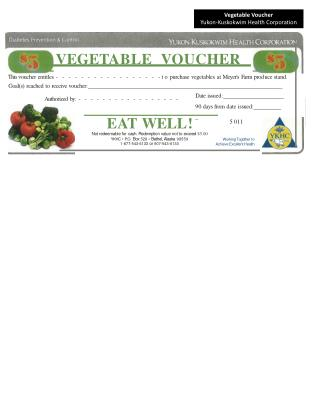 VEGE T ABLE V OUCHER