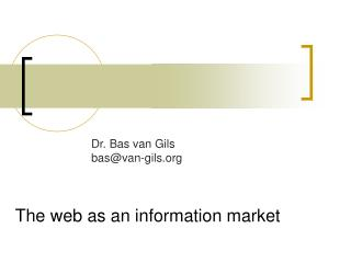 The web as an information market