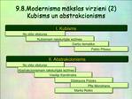9.8.Modernisma makslas virzieni 2 Kubisms un abstrakcionisms
