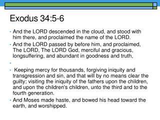 Exodus 34:5-6