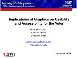 Implications of Graphics on Usability and Accessibility for the Voter