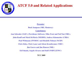 ATCF 5.0 and Related Applications