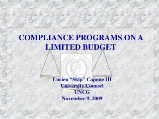 COMPLIANCE PROGRAMS ON A LIMITED BUDGET