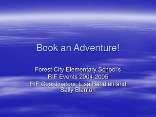 Book an Adventure!