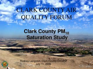 CLARK COUNTY AIR QUALITY FORUM