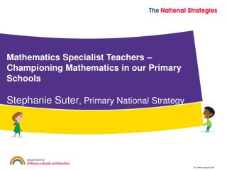 Mathematics Specialist Teachers – Championing Mathematics in our Primary Schools