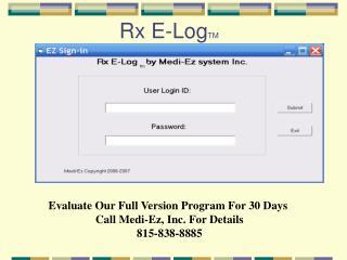 Rx E-Log TM