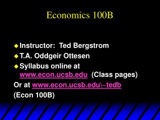 Economics 100B