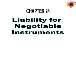 Liability for Negotiable Instruments
