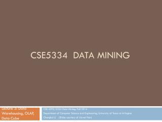 CSE5334 Data Mining