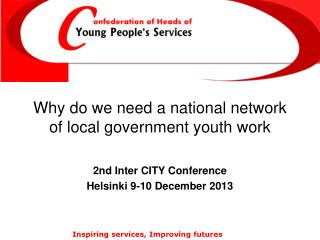 Why do we need a national network of local government youth  work