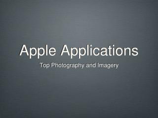 Apple Applications