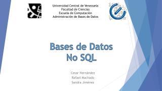 Bases de Datos No SQL