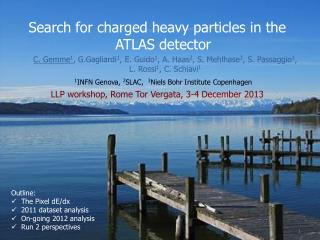 Search for charged heavy particles in the ATLAS detector