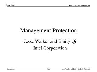 Management Protection