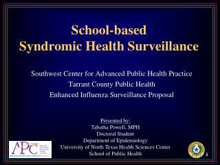 School-based Syndromic Health Surveillance