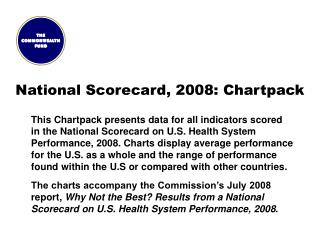 National Scorecard, 2008: Chartpack