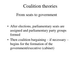 Coalition theories