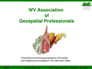 WV Association  of  Geospatial Professionals