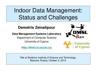 Indoor Data Management: Status and Challenges