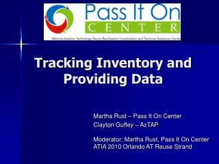 Tracking Inventory and Providing Data