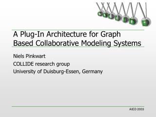 A Plug-In Architecture for Graph Based Collaborative Modeling Systems