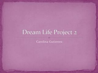Dream Life  Project 2