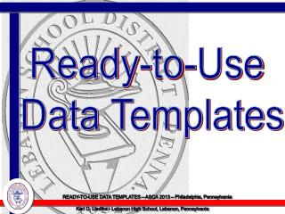 Ready-to-Use  Data Templates