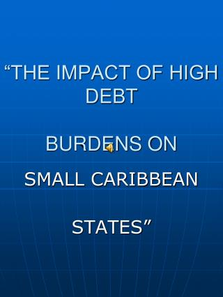 """THE IMPACT OF HIGH DEBT  BURDENS ON"