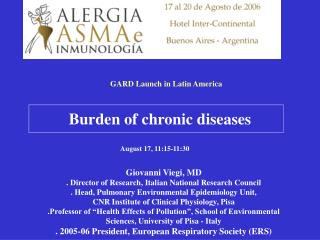 Burden of chronic diseases