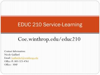 EDUC 210 Service-Learning