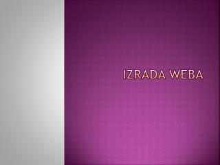 IZRADa weba