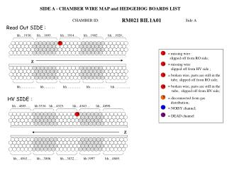 SIDE A - CHAMBER WIRE MAP and HEDGEHOG BOARDS LIST