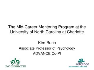 The Mid-Career Mentoring Program at the University of North Carolina at Charlotte