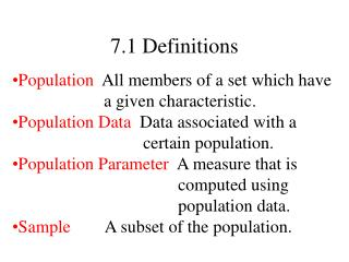 7.1 Definitions
