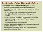 Readmission Policy Changes in Reform