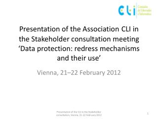 Vienna, 21–22 February 2012