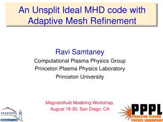 An Unsplit Ideal MHD code with Adaptive Mesh Refinement