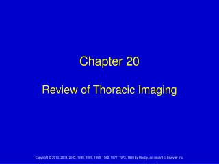 Chapter 20 Review of Thoracic Imaging