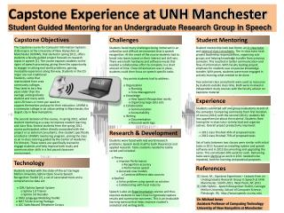 Capstone Experience at UNH Manchester